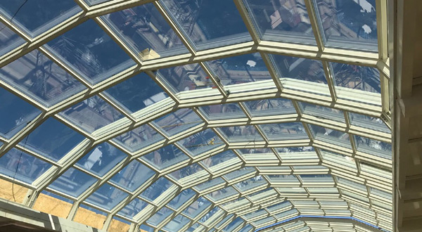 Ramada otel açýlýr kapanýr cam çatý sistemi imalat ve montajý tamamlandý.